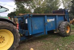 West 12 ton muck spreader £3950 plus vat £4740