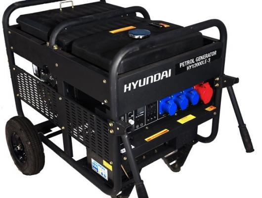 Hyundai 12.5kW Three Phase Electric Start Petrol Generator HY12000LE-3
