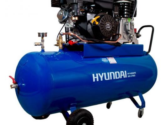 Hyundai 200L 37.8cfm Petrol Driven Air Compressor HY140200PS