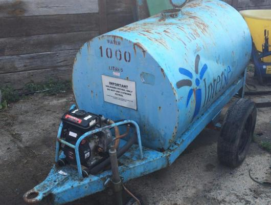 Water bowser with pump £450 plus vat £540