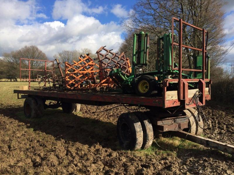 Artic trailer -bale trailer - shepherds base £1250 plus vat £1500