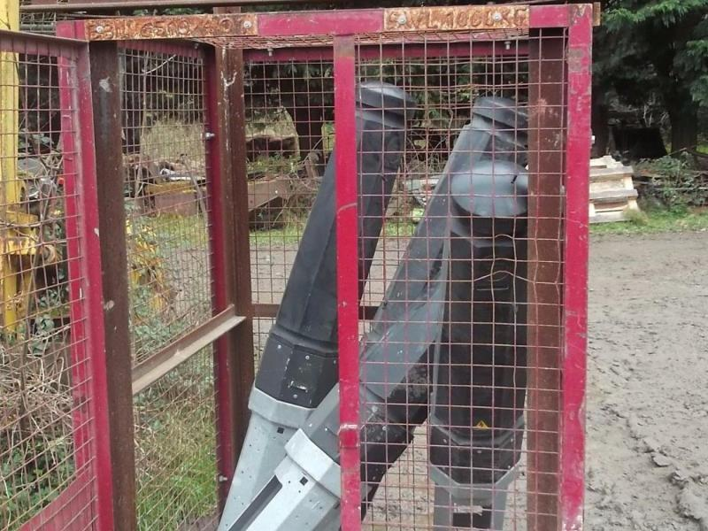 5 Large Bollards in a mesh cage £350