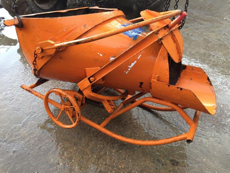 Orange concrete skip Eischer - small £480 plus vat £576