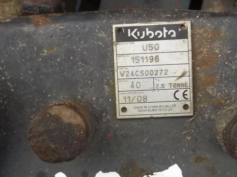 Quick Hitch - 45 mm pins - Kubota U50 2.5 tonne £350 plus vat £420