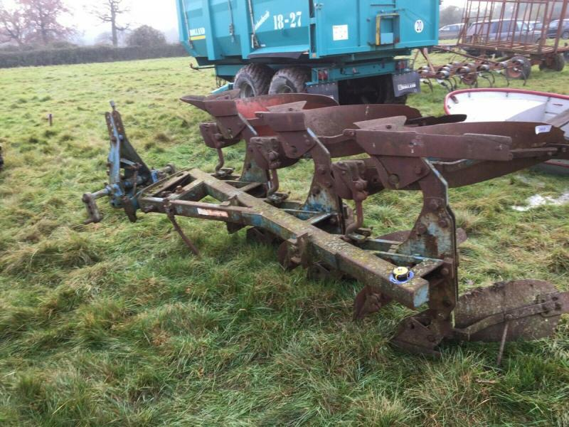 Ransomes 3 Furrow reversible plough £450 plus vat £540