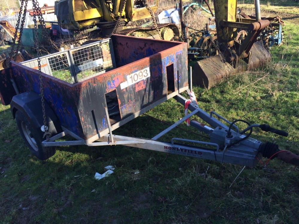 Single axle trailer £350 plus vat £420