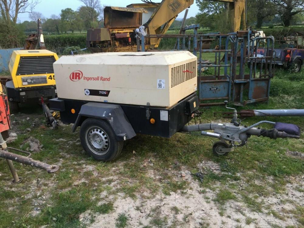 Ingersoll Rand 726E road compressor £2450 plus vat £2940