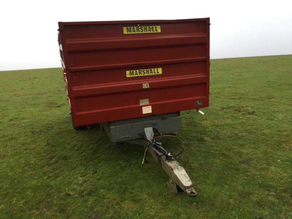 Marshall 10 tonne grain trailer tipping £4000 plus vat £4800