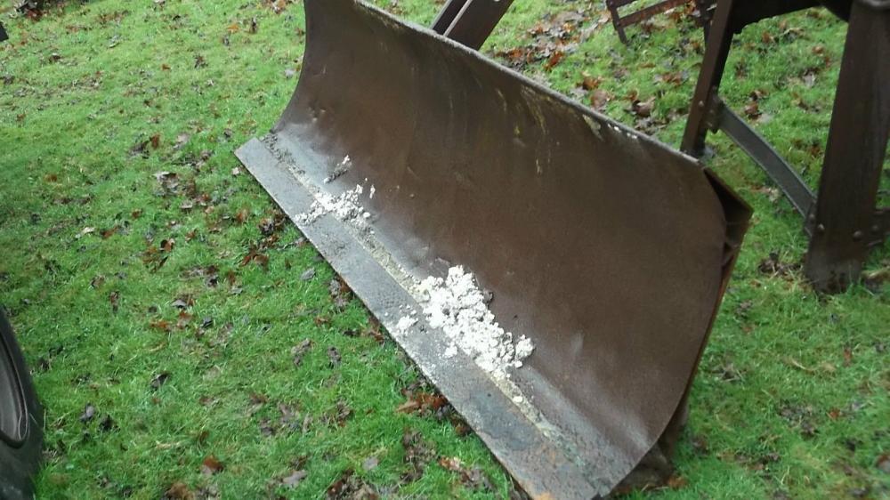 Tractor grading blade snow blade