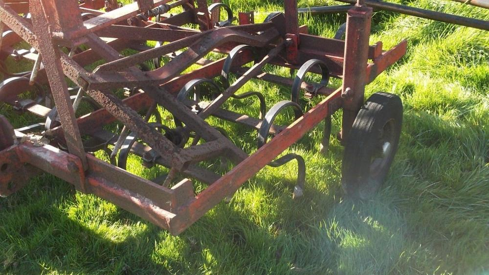 Folding Spring tine harrow with following harrow £500 plus vat £600