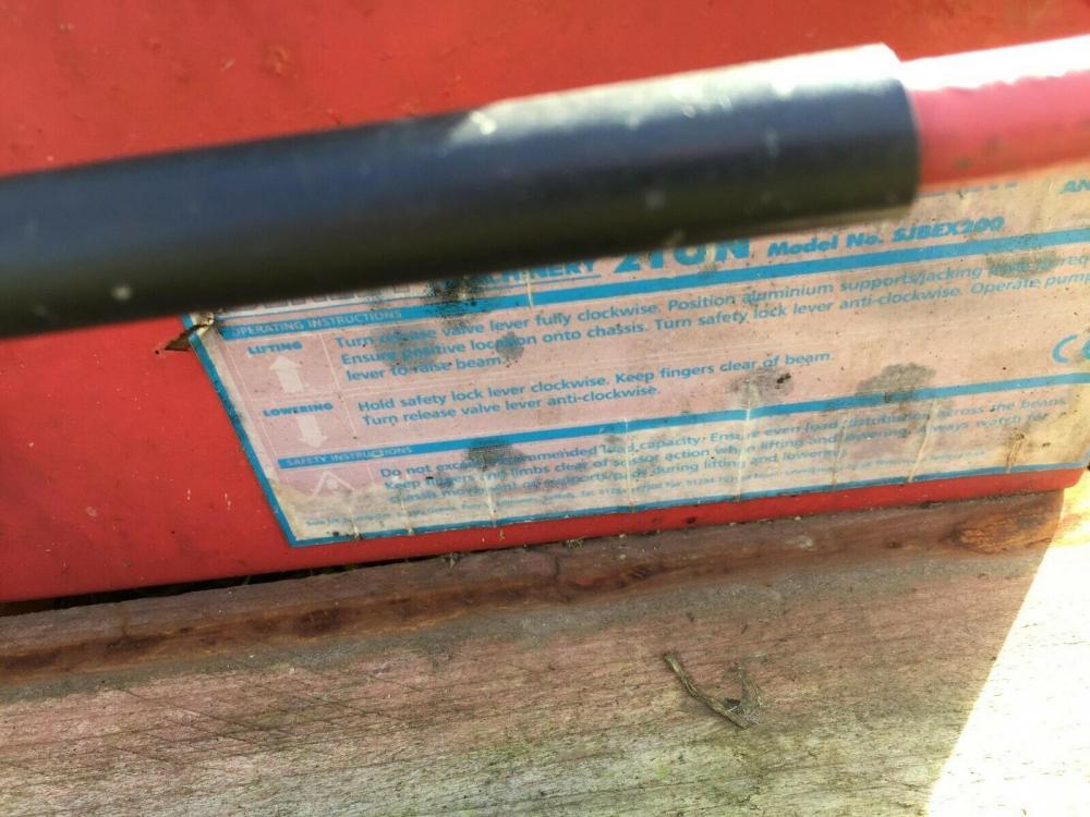 Jacking beam £150 plus vat £180