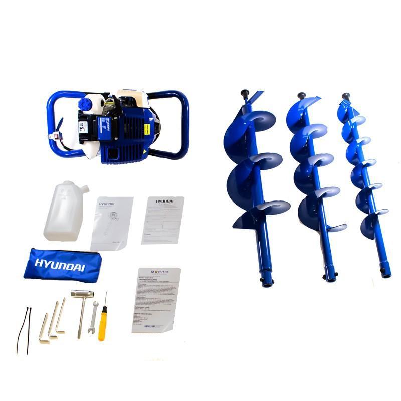 Hyundai 50.8cc 2-Stroke Petrol Earth Auger / Borer / Drill HYEA5080