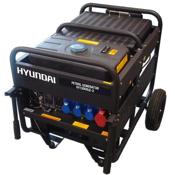Hyundai 12.5kW Three Phase Electric Start Petrol Generator HY12000LE-3