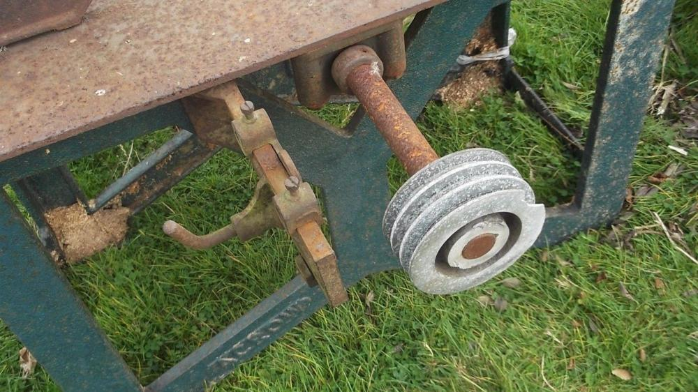 Saw bench with Lister twin cylinder diesel engine £480