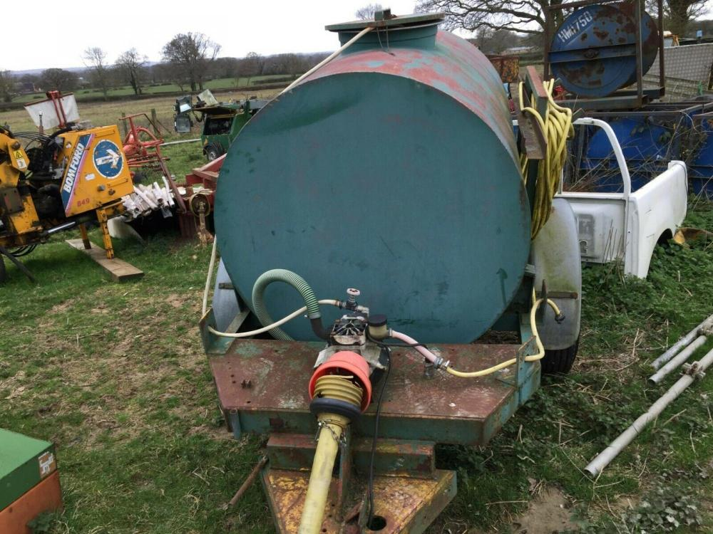 Water Bowser with PTO driven pump £650 plus vat £780